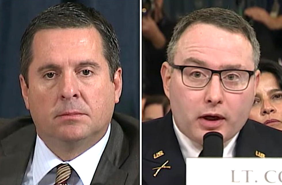 'That will play poorly with the respect our troops crowd': Twitter rips Devin Nunes for disrespecting Lt. Col. Vindman's rank