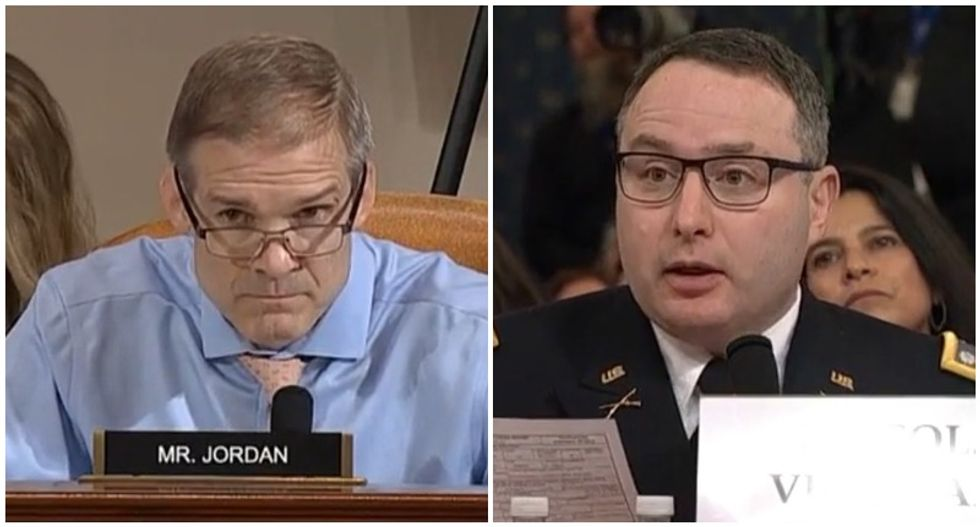 Vindman blows up Jim Jordan's smear of his service by reading glowing performance review