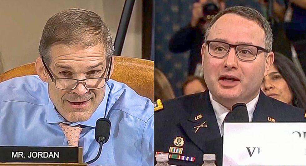 'I did my job': Lt. Col Vindman fends off Jim Jordan's disrespectful attack on his service