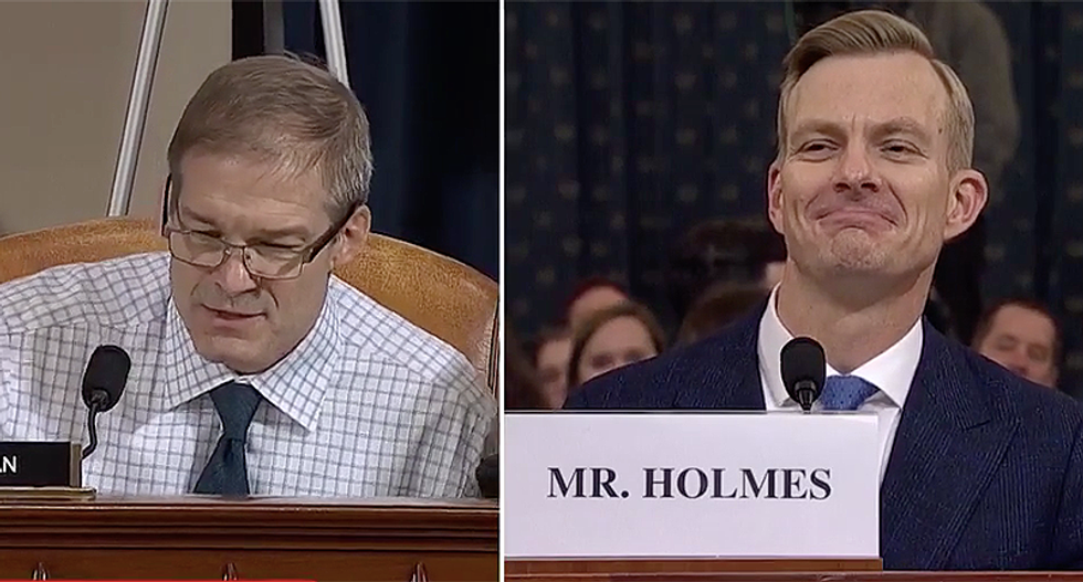 WATCH: Jim Jordan repeatedly tries to shut down David Holmes as he destroys GOP's argument