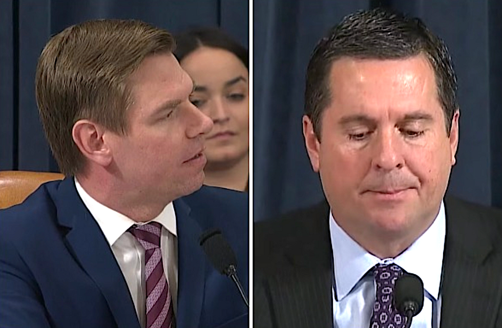 WATCH: Eric Swalwell exposes Devin Nunes' shady ties to Giuliani's indicted henchman during impeachment hearing