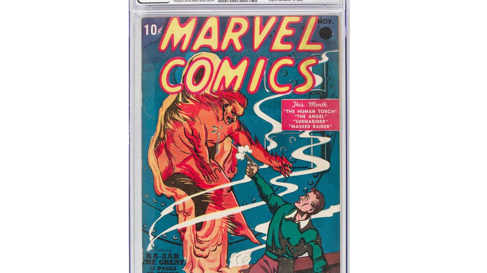 From 10 cents to $1.3 million: First Marvel comic sets auction record