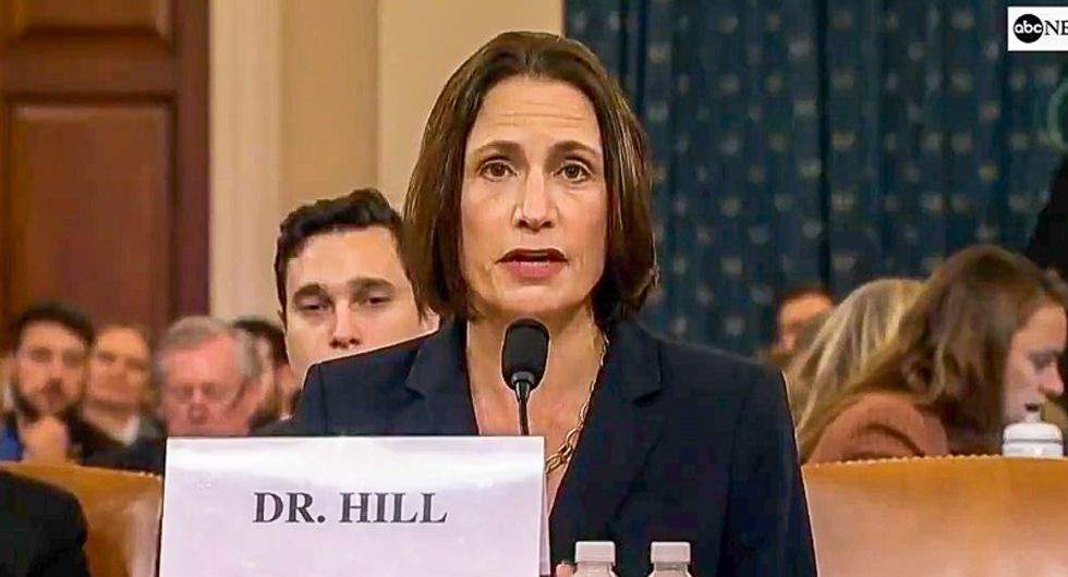 Fiona Hill and David Holmes testify Burisma was 'code for the Bidens' in the Trump administration