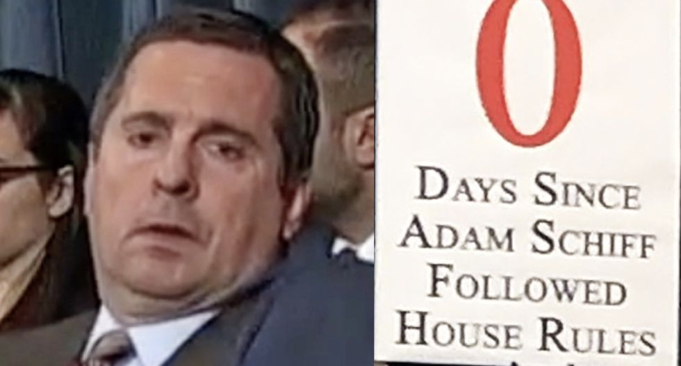 Republican's latest anti-Schiff sign hilariously backfires