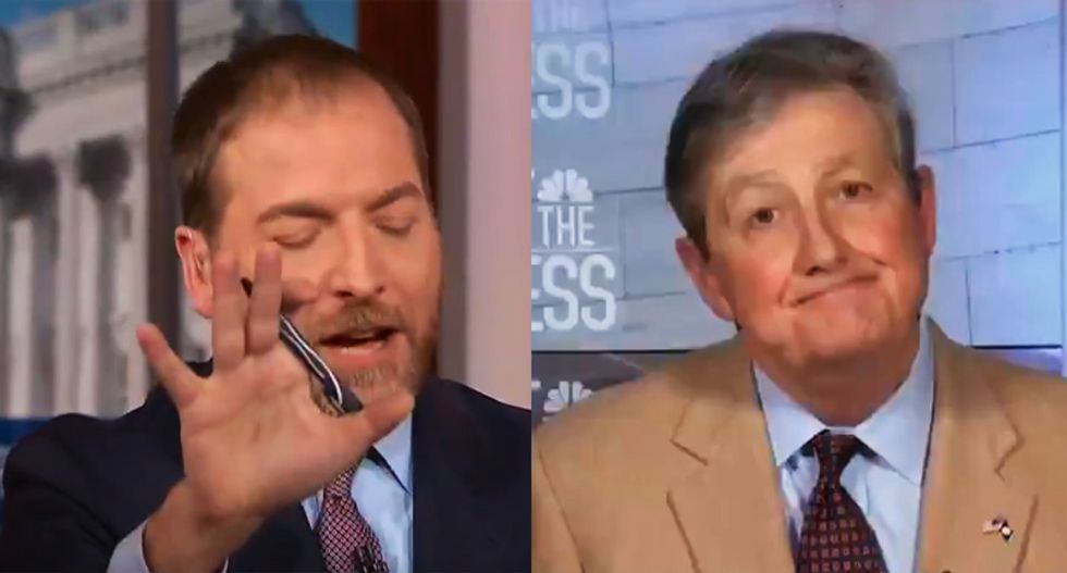 NBC's Chuck Todd gets in GOPer John Kennedy's face for being 'duped' by Russia and spreading their propaganda
