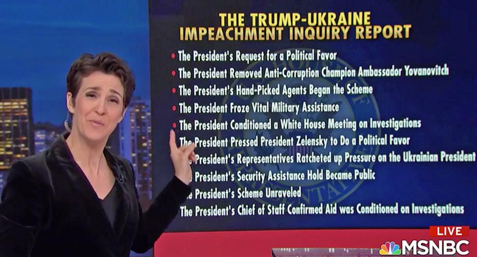 Watch Rachel Maddow summarize the impeachment report in 78 words -- spoken in 46 seconds