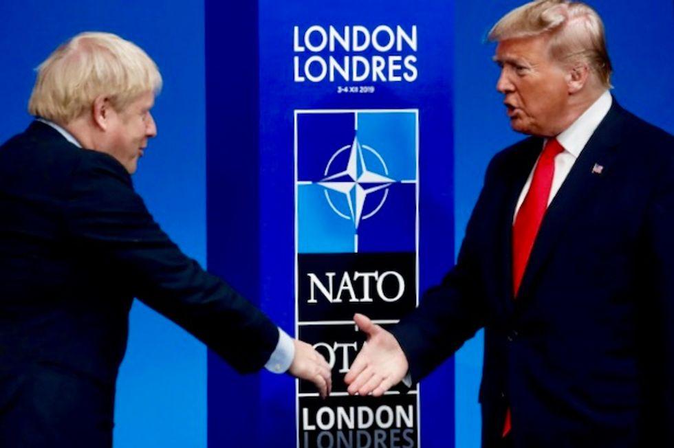 Boris Johnson denies dodging Trump in pre-election NATO trip