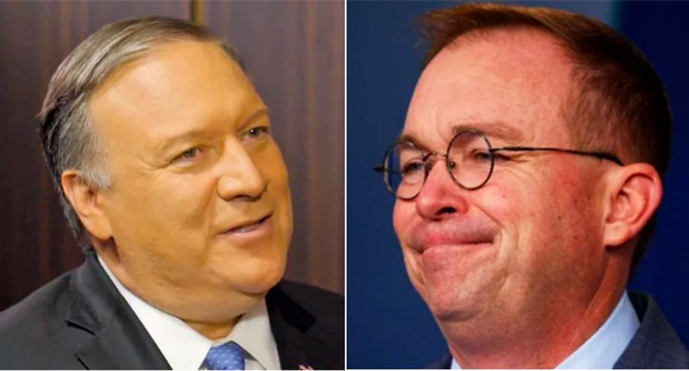 Pompeo and Mulvaney are neck-deep in Trump's corruption and that's why they're ducking Congress: Sen. Angus King