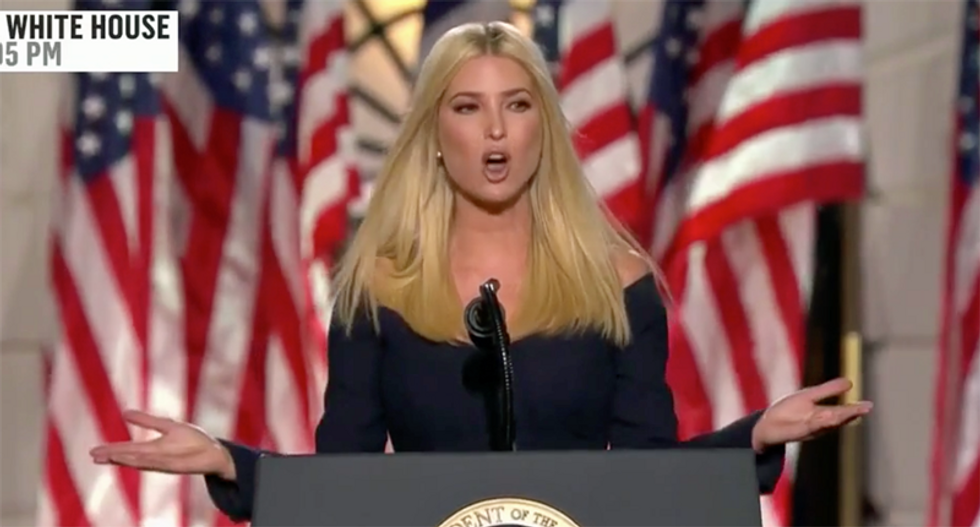 Ivanka Trump ripped for White House speech to 'sanitize and whitewash Trump's racism and cruelty'