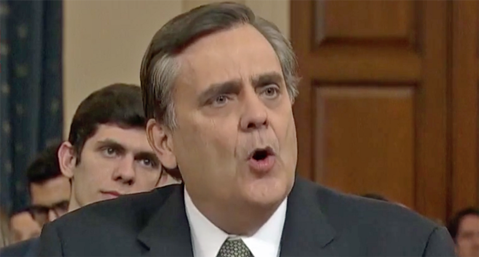 'Pathetic': GOP witness Jonathan Turley ripped for 'embarrassing' himself at impeachment hearing