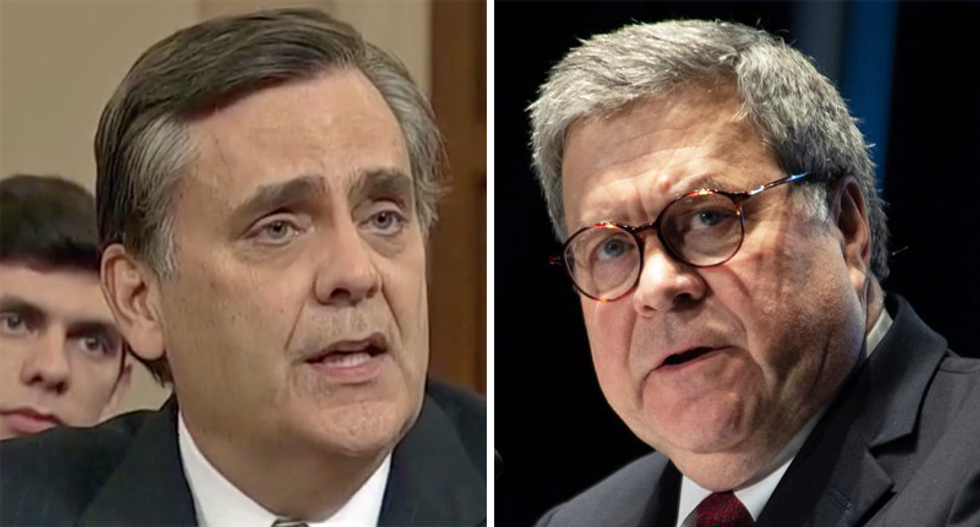Jonathan Turley walloped for bragging about friendship with Bill Barr: 'Like a bad reference on a resume'
