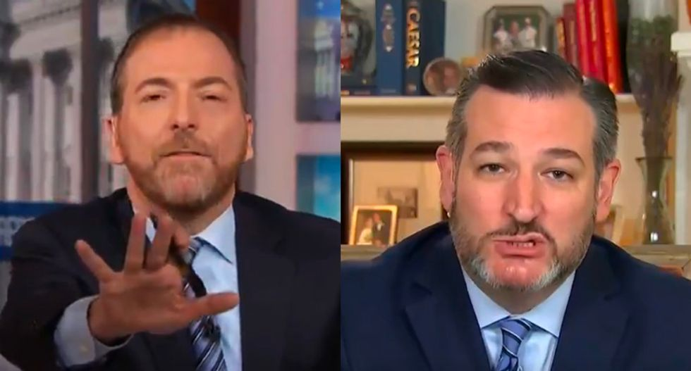Ted Cruz snaps at NBC's Chuck Todd for 'dragging up all that garbage' Trump threw at him in 2016 campaign