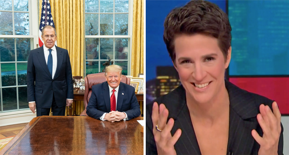 WATCH: Maddow hilariously recaps Trump's 'shenanigans in the Oval Office' with the Russian foreign minister