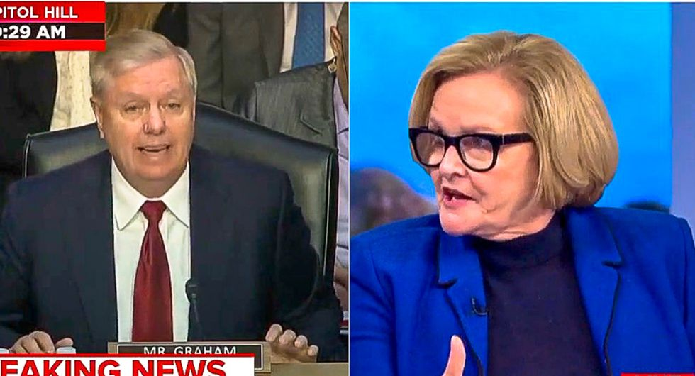 MSNBC mutes Lindsey Graham for 'hypocrisy': He would be 'screaming from rooftops' if Dems were in bed with Russia