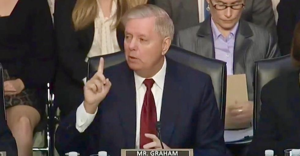 Lindsey Graham explodes in anger demanding to know why FBI 'didn't tell Trump' his campaign was under investigation