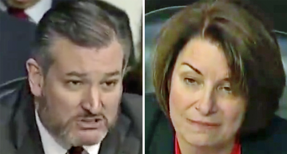 Stunning shift as Amy Klobuchar 'tones things down' after Ted Cruz rants about 'Beavis and Butt-Head' at IG hearing