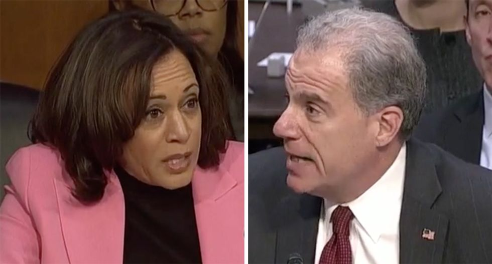 Kamala Harris uses IG hearing to connect the dots between Bill Barr and Giuliani's corrupt schemes