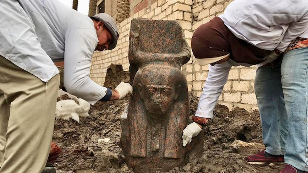 Egypt unveils 'rare' ancient pharaoh bust