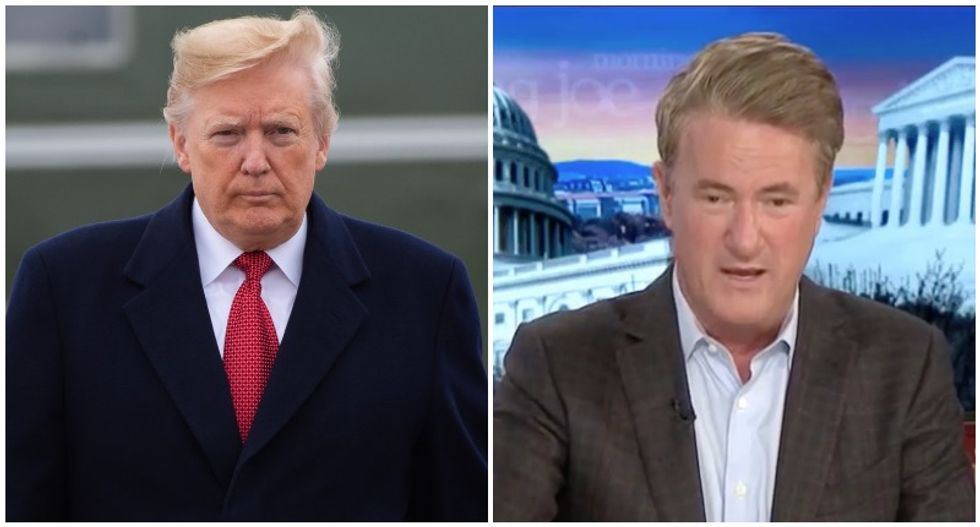 'Frantic in the White House': MSNBC's Joe Scarborough says Trump tweet spree shows his fear of impeachment