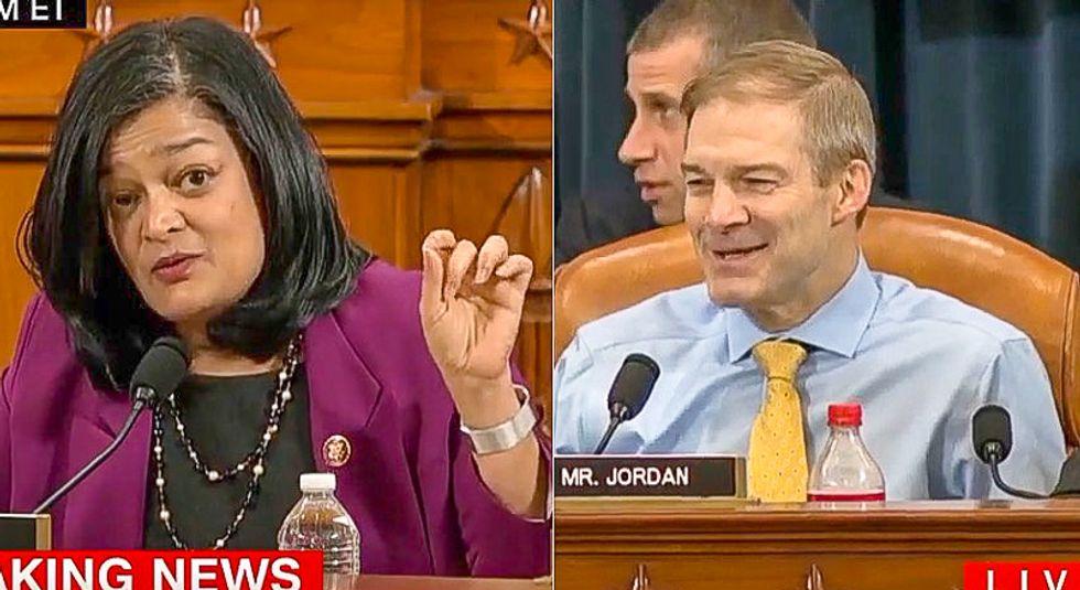 'I am not yielding!' Rep. Pramila Jayapal shuts down Jim Jordan's attempt to hijack impeachment hearing