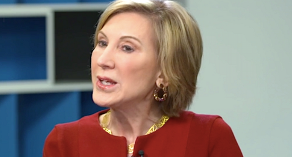Former GOP presidential candidate Carly Fiorina says she intends to vote for Biden