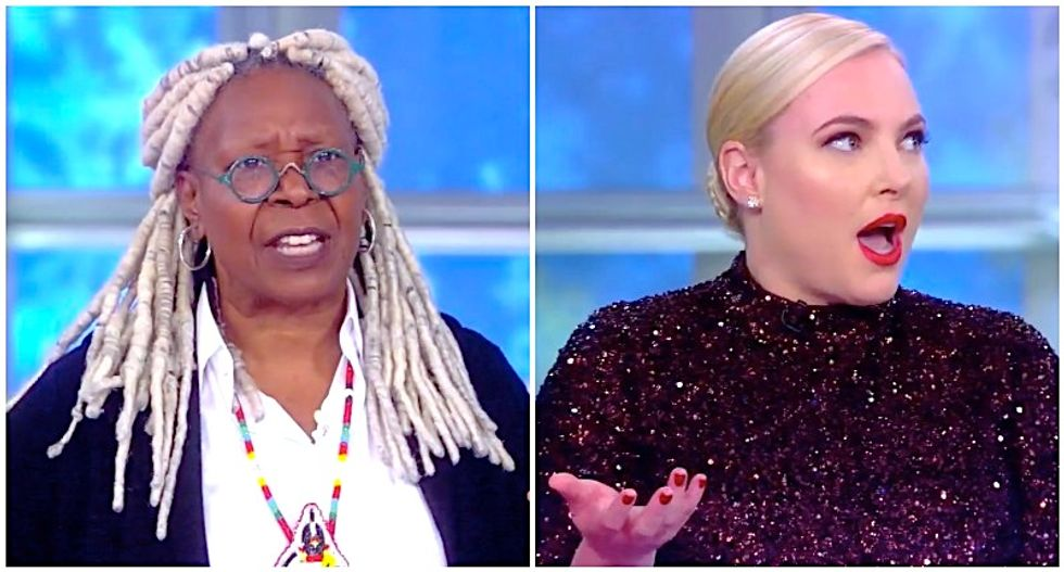 The View descends into chaos as Meghan McCain infuriates Whoopi Goldberg with on-air tantrum