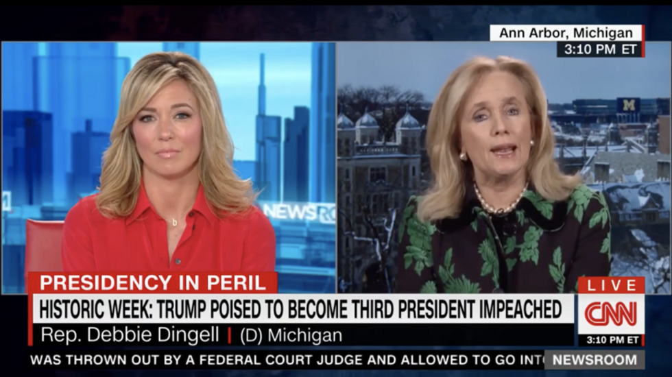 Rep. Debbie Dingell 'shaken' after Trump maliciously drags her dead husband into impeachment fight