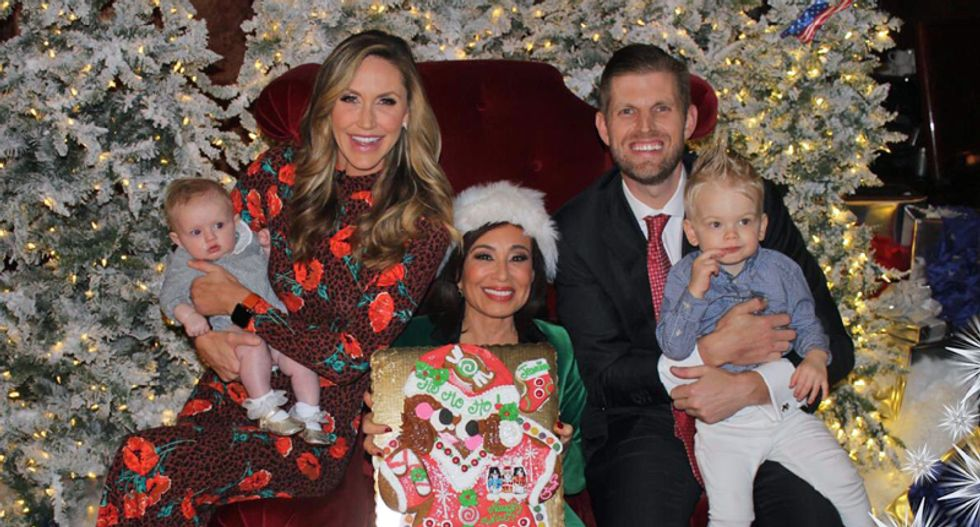 'You can say Merry Christmas again': Lara and Eric Trump declare victory in the War on Christmas