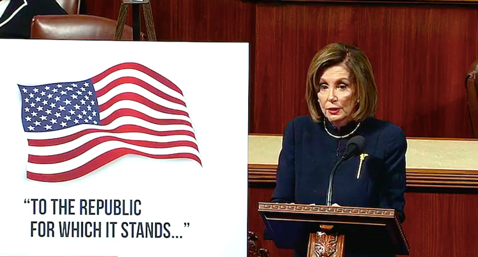 Nancy Pelosi earns applause with powerful call to impeach Trump: 'The president is an ongoing threat to national security'