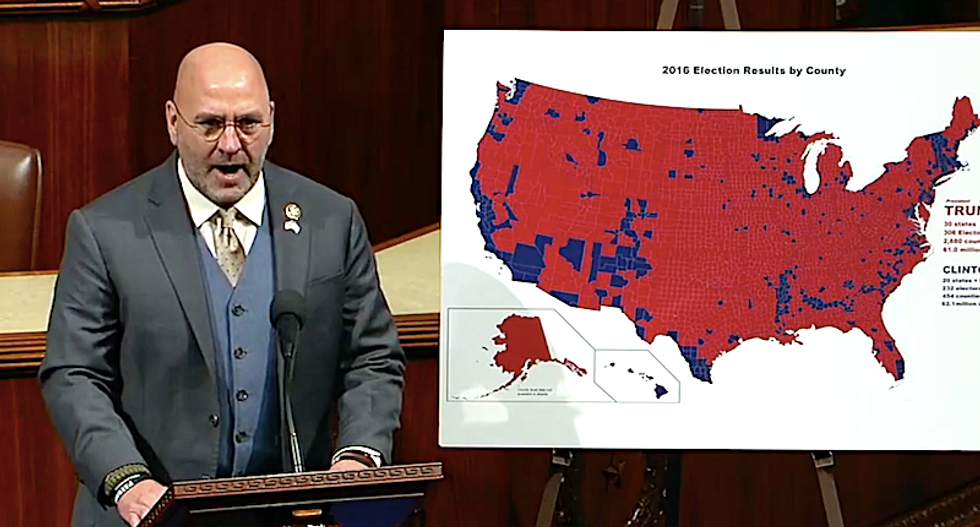'I have descended into the belly of the beast!' GOP's Clay Higgins delivers eye-popping rant against impeachment