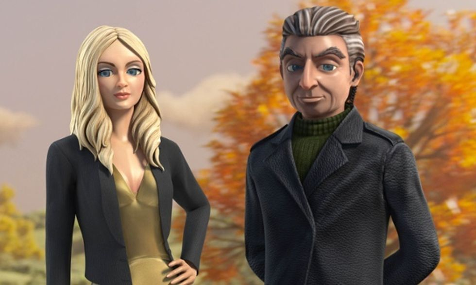 Thunderbirds Are Go: Lady Penelope and Parker. Photograph: ITV