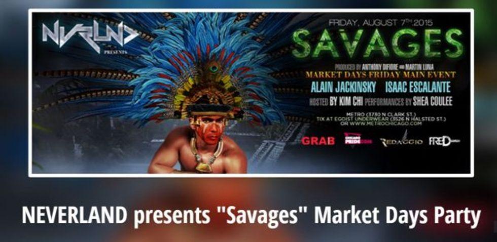 Original 'Savages' flyer (heyevent.com)