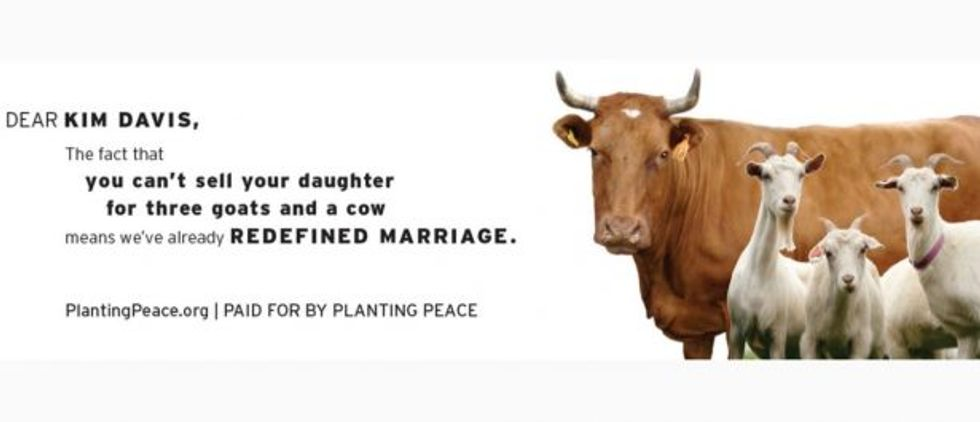 Billboard created by Planting Peace