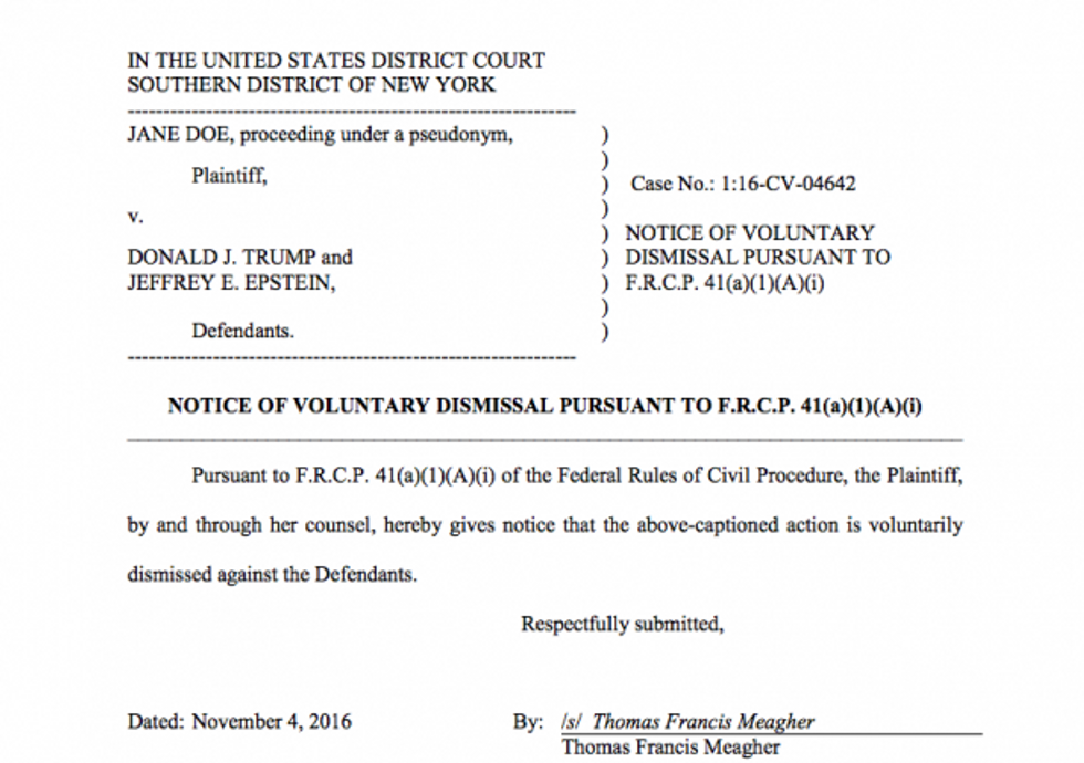 Jane Doe filing (Screenshot)