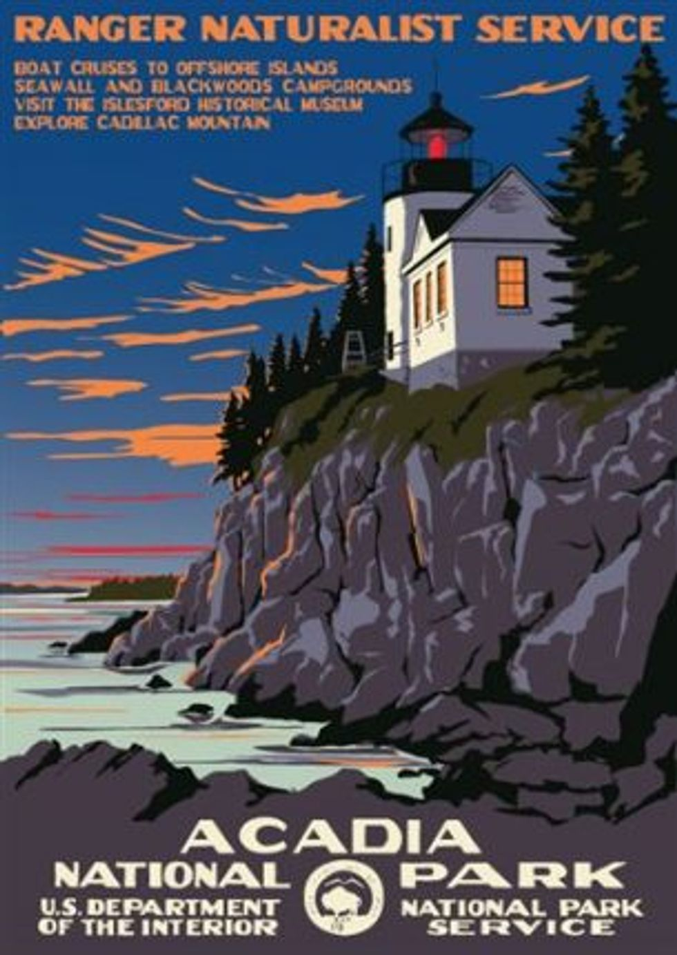 WPA poster of Acadia National Park