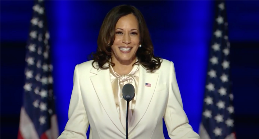 WATCH: Vice President-elect Kamala Harris gives upbeat and hopeful victory speech