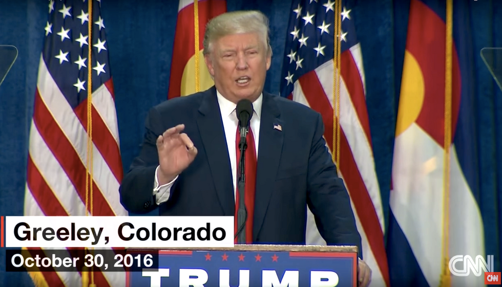 WATCH: Trump urges supporters at Colorado rally not to use mail-in ballots