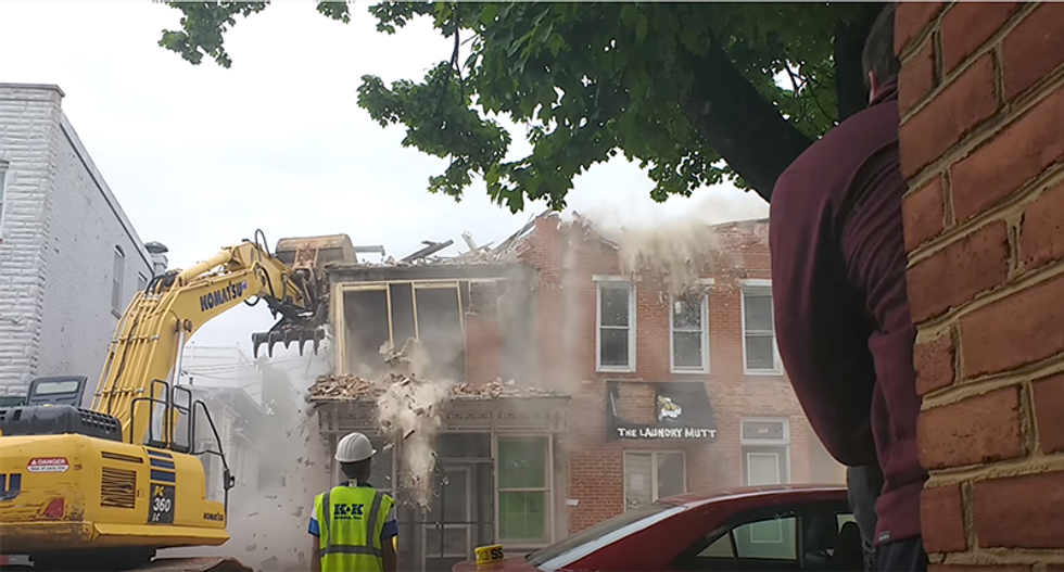 WATCH: Baltimore demolition crew gobsmacked as they realize they just tore down the wrong building