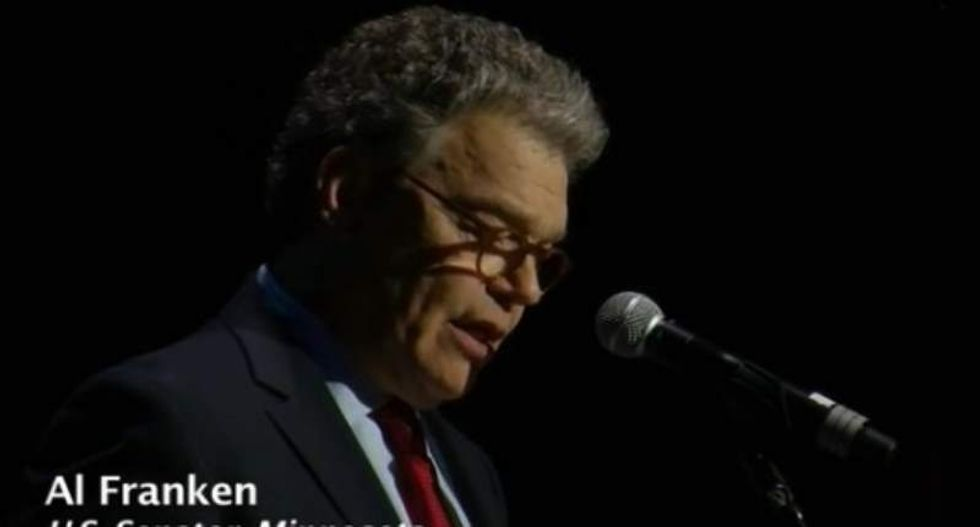 Al Franken returns to the stage to mock Ted Cruz and turn Paul Ryan into 'an 18th century fop'