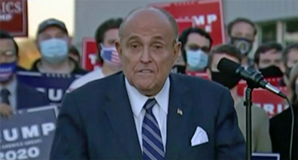 Rudy Giuliani is 'leading the legal effort' to stop vote counting in Pennsylvania: Eric Trump