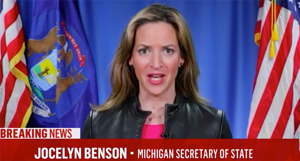 WATCH: Michigan SecState why she is counting all the votes instead of letting Trump call dibs