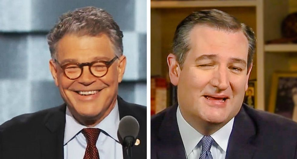 'Ted is a toxic co-worker' Al Franken jokes Ted Cruz 'microwaves fish for lunch'