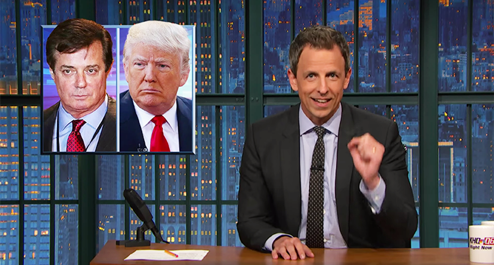 Seth Meyers calls BS on Donald Trump's racist, xenophobic misogyny being 'all for show'