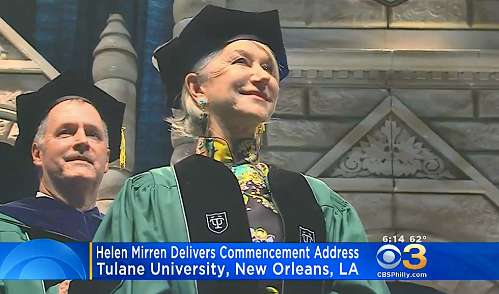 Helen Mirren jabs Trump in her 'Top Five Rules for a Happy Life' speech at Tulane University's commencement