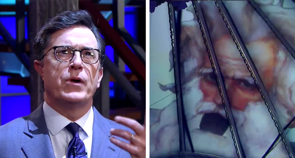 'Unlike some people, I don't give away top-secret information from Israel': Watch God skewer Trump on Colbert