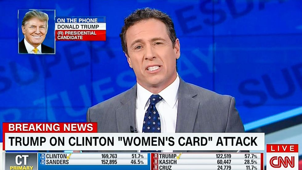 Chris Cuomo flays Trump for 'woman card' attack: 'How do you call someone out for being a woman?'