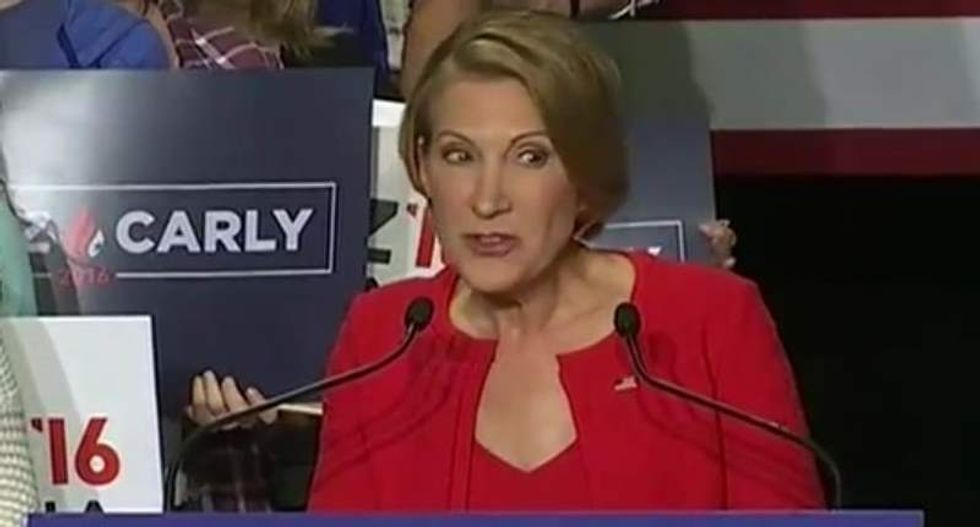 Twitter tees off on Fiorina joining Cruz -- and her singing: 'Every plant in my house just died'