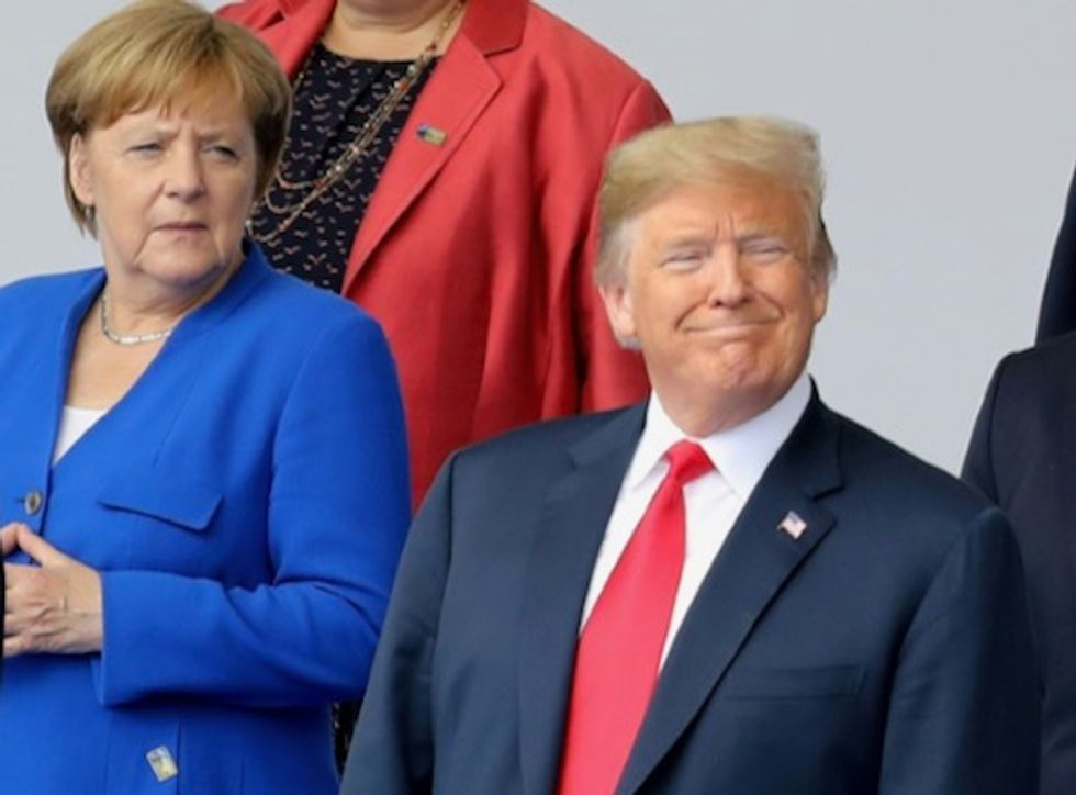 Trump brings reality-show style to NATO, and leaves satisfied
