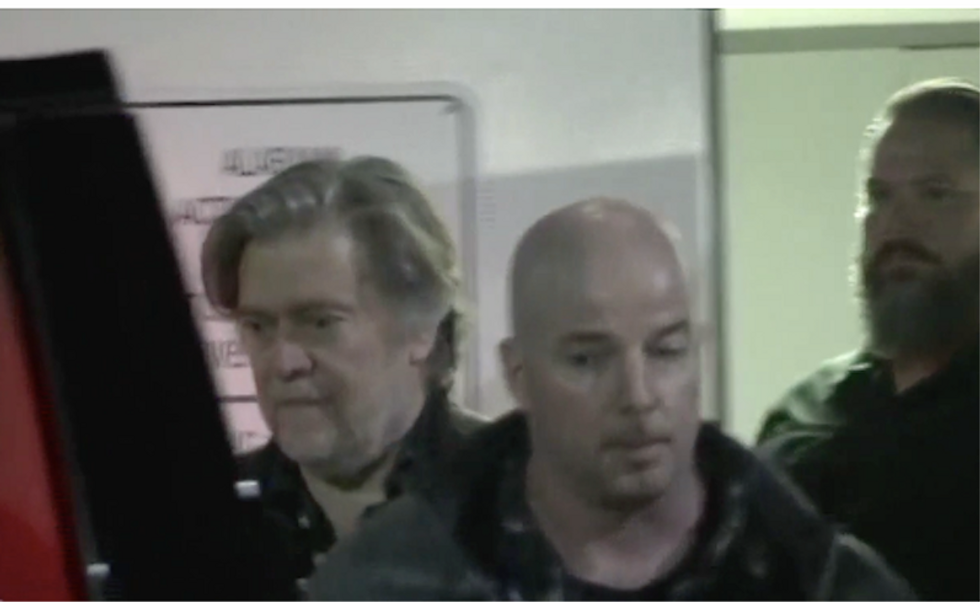 Watch Steve Bannon's walk of shame after Moore loss as reporter asks: 'Isn't this a huge defeat for you?'