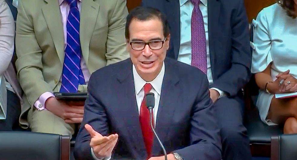 Steve Mnuchin admits Treasury Dept. coordinated with White House on Trump's tax returns despite legal roadblocks